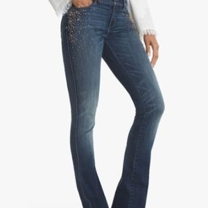 White House Black Market Embellished Jeans NWT